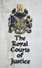 Royal Courts of Justice detail - name